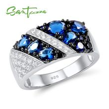 SANTUZZA Silver Ring For Women 925 Sterling Silver Fashion Round Rings for Women 2017 Cubic Zirconia Ringen Party Jewelry cheap 925 Sterling GDTC Pave Setting Silver Rings TRENDY Wedding Bands Rings Silver 925 Metal Rings Women Rings Rings Silver 925 Jewelry