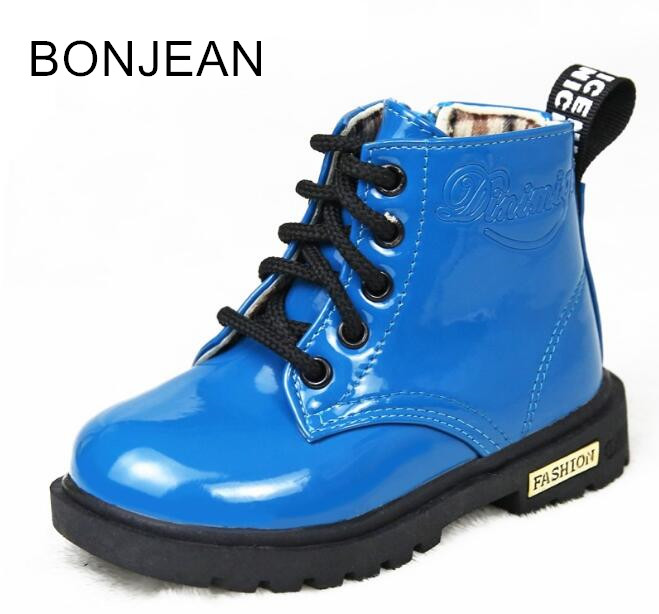 2018 boots autumn winter new children's single shoes Korean short boots small boys and girls boots 0352 2014 new autumn and winter children s shoes ankle boots leather single boots bow princess boys and girls shoes y 451