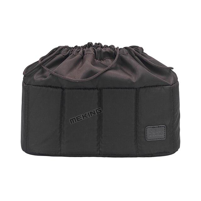 Selens cámara flexible insertar partición acolchado bolsa caso para canon nikon sony dslr slr lente de la cámara