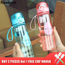 Keelorn 500ml New Plastic Convenience Sports Water Bottles Lovers General Vehicle Leakproof Automatic Buckle Bottle