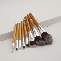 8PC Oval Kit Techniques Makeup Brushes Set Foundation Powder Face Brush Real Professional Makeup Tools Accessories