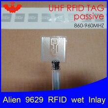 UHF RFID наклейка Alien 9629 влажная инкрустация 915 МГц 900 868 МГц 860-960 МГц Higgs3 EPCC1G2 6C умный клей пассивный RFID метки этикетка