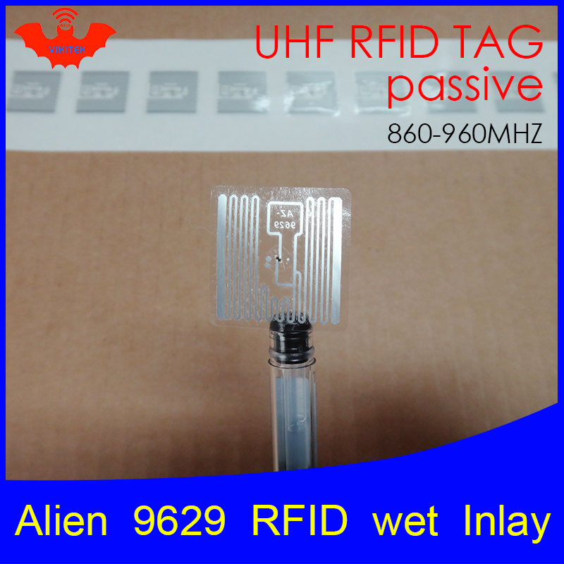 UHF RFID Tag Sticker Alien 9629 Wet Inlay 915mhz 900 868mhz 860-960MHZ Higgs3 EPCC1G2 6C Smart Adhesive Passive RFID Tags Label