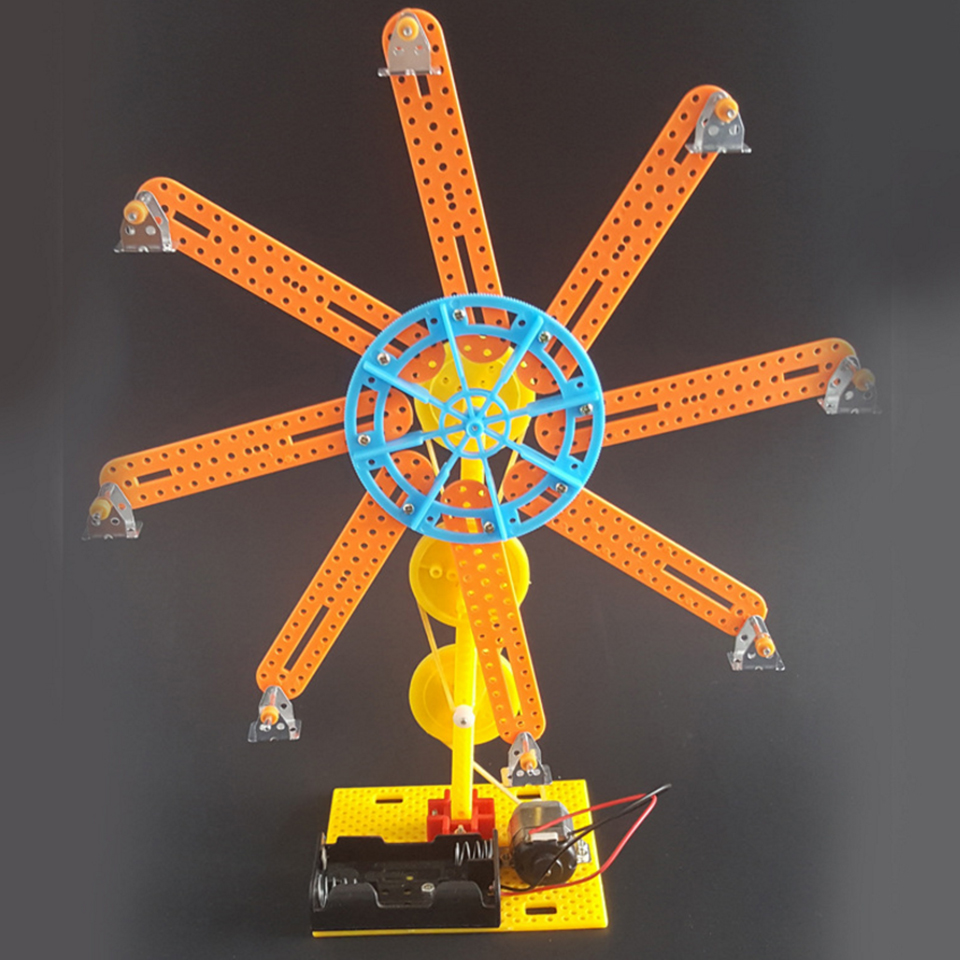 Original Assembly Educational Plastic Electric Windmill