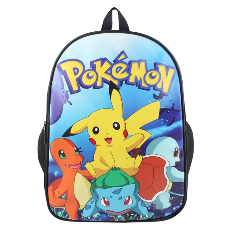 Fashion Game Pocket Monster Pokemon Backpack For Boy Girls Pikachu Charmander Squirtle Ivysaur School Bag Student Bookbag game boy картридж diskus