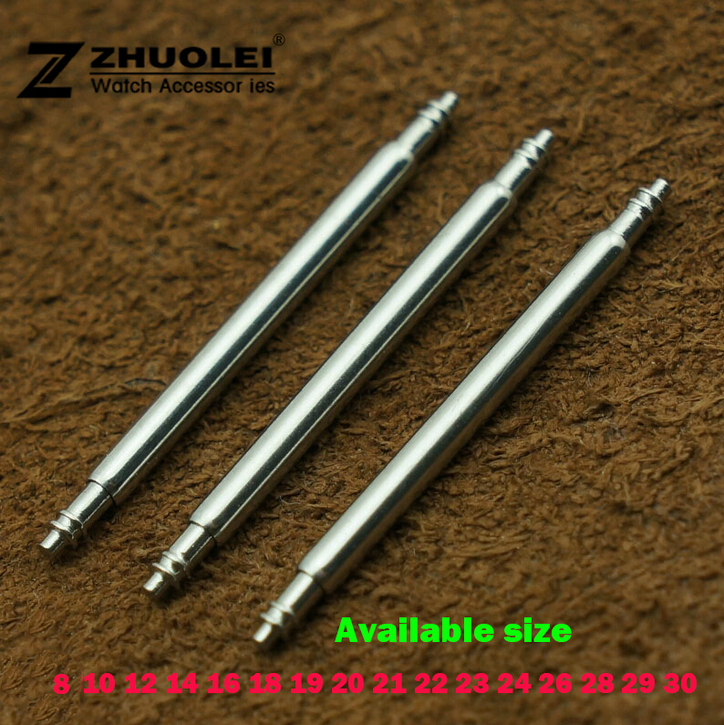 1000pcs/lot 8mm 10mm 12mm 14mm 16mm 18mm 20mm 22mm 24mm 26mm 28mm 30mm Spring Bar For Watch Band Buckle Link Pins Repair Tools