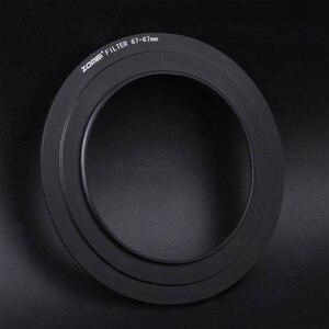 Image 2 - Zomei 67mm 72mm 77mm 82mm anillo adaptador para Zomei Z3 filtro cuadrado soporte de Metal