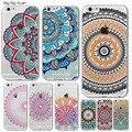 Colorido floral de paisley flores casos para iphone 6 6 s 5 5S sí 6 6 s plus 7 7 plus hollow mandala henna retro vintage casos