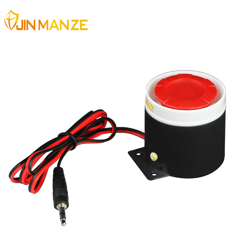 120db Mini Wired Siren Horn DC 12V for Wireless Home Alarm Security System House Office Protecting Sensors Wholesale Accessory