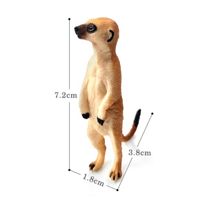 Image 2 - Simulation Cute Small Meerkat animal model plastic figure home decor figurine decoration accessories modern Gift For Kids toys