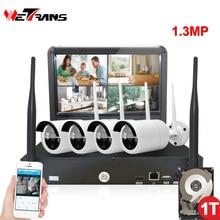 Surveillance System 4CH 960P Cameras Security Wireless CCTV System Plug Play 20m Night Vision Outdoor Video Security CCTV KIT