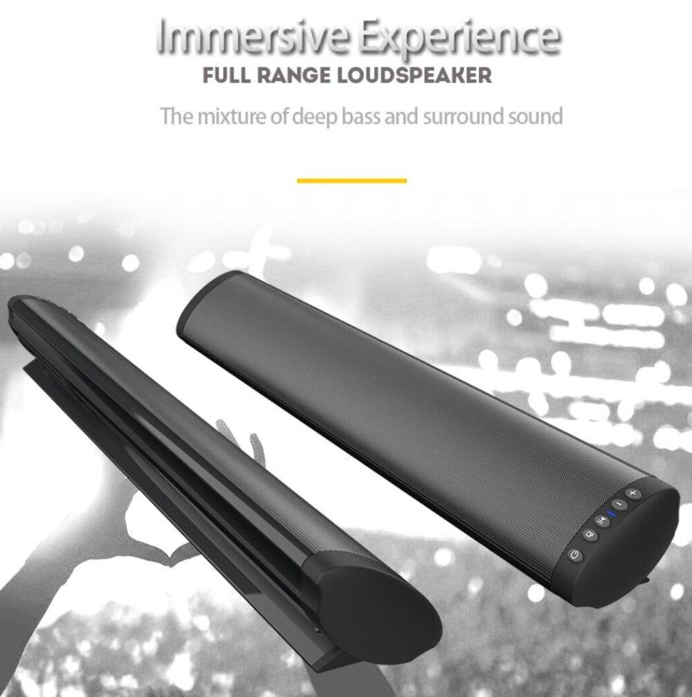 Sans fil Bluetooth 5.0 barre de son haut-parleur stéréo puissant TV Home cinéma barre de son avec télécommande