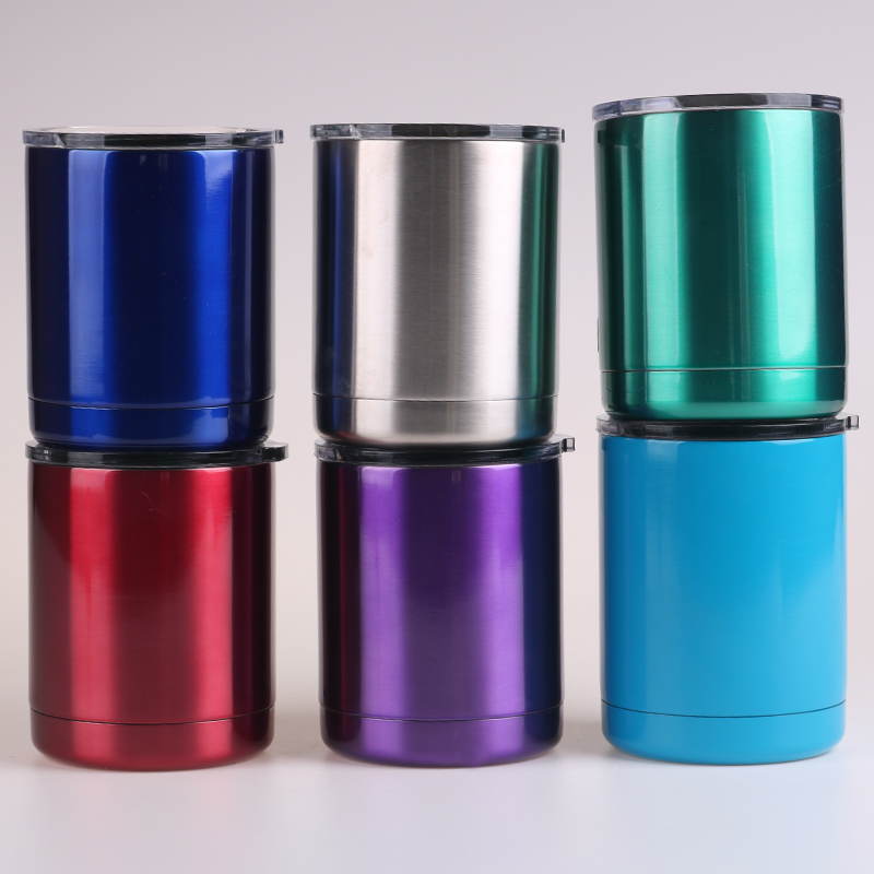 New 10oz Rambler Double Wall Vacuum Insulation 304 Stainless Steel Low Cup Travel Coffee Cup outdoor