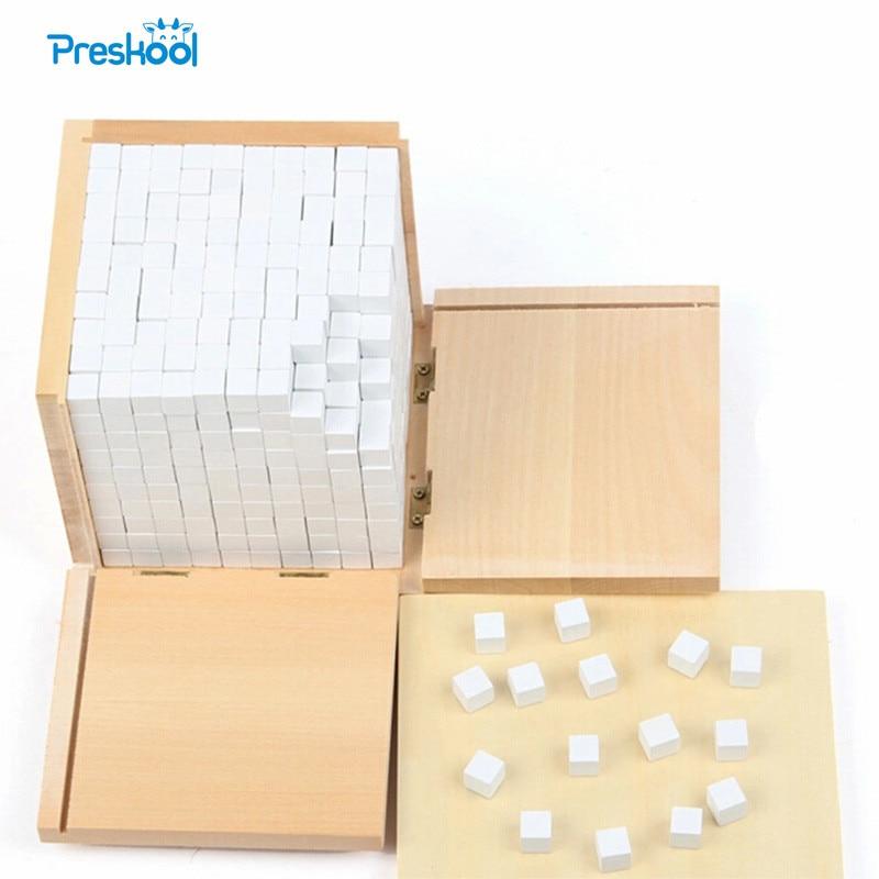 Vauvan lelu Montessori Volume Box, jossa on 1000 kuutiota varhaiskasvatukseen Esikoulukoulutus Lapset Lelut Brinquedos Juguetes