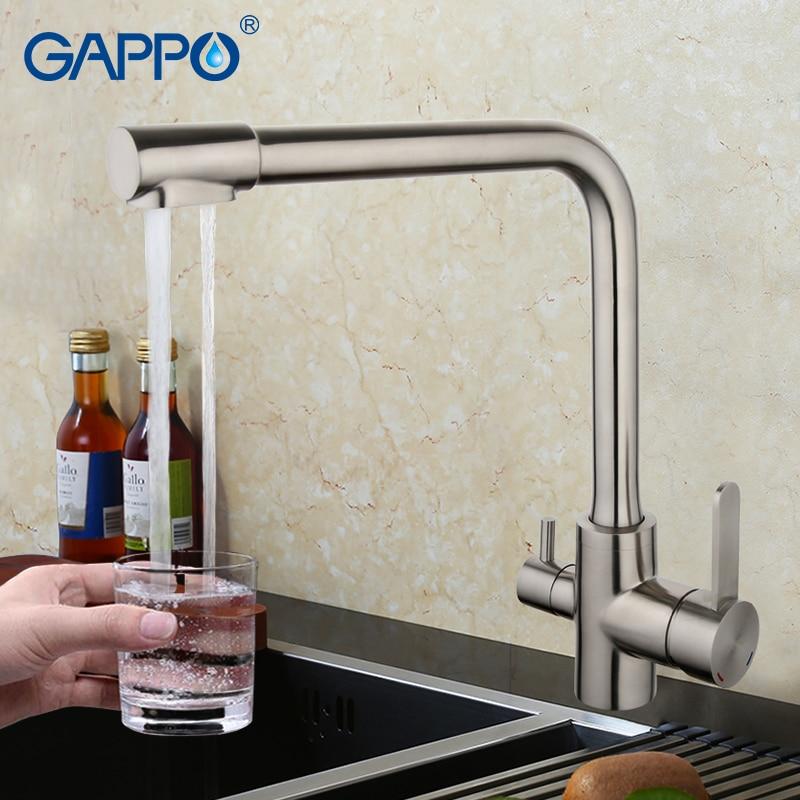 GAPPO Cuisine Robinet filtrée l'eau du robinet cuisine robinet d'évier robinet de cuisine mitigeur robinet en laiton mélangeur en acier inoxydable robinet