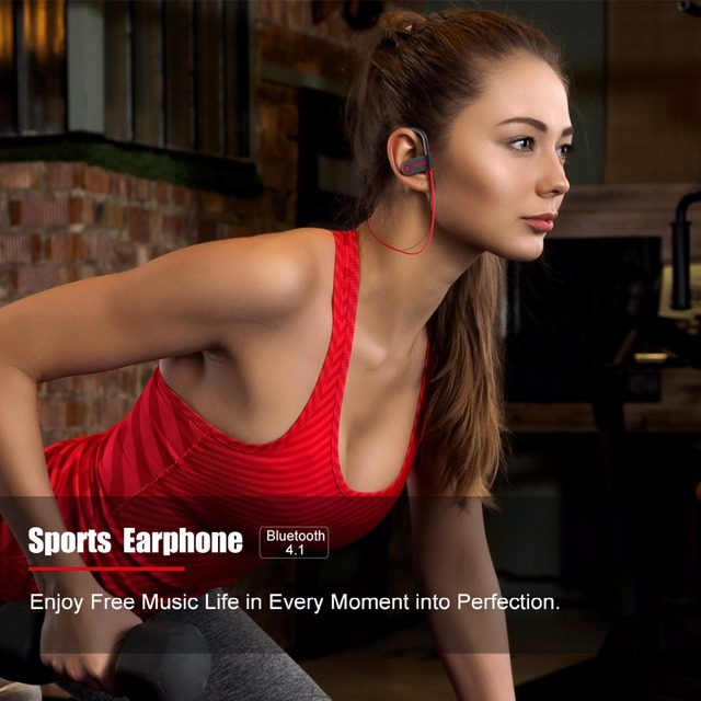 Headphone sports bass bluetooth earphone with mic for phone iPhone xiaomi Wavefun bluetooth headphones IPX7 waterproof wireless