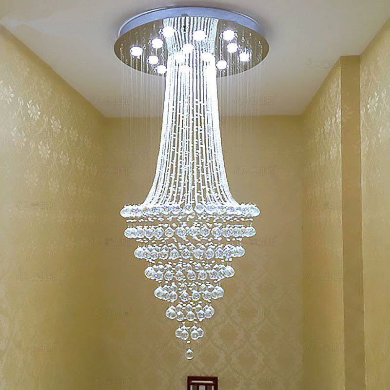 Crystal Chandelier Led Ceiling Light Fixture Modern Crystal Lustres Lighting Fixture Long K9 Crystals Ceiling Lamp For Stairs zx modern k9 crystal chandelier arched rectangle ceiling lamp led fixture lighting bar light crystal restaurant curtain lights