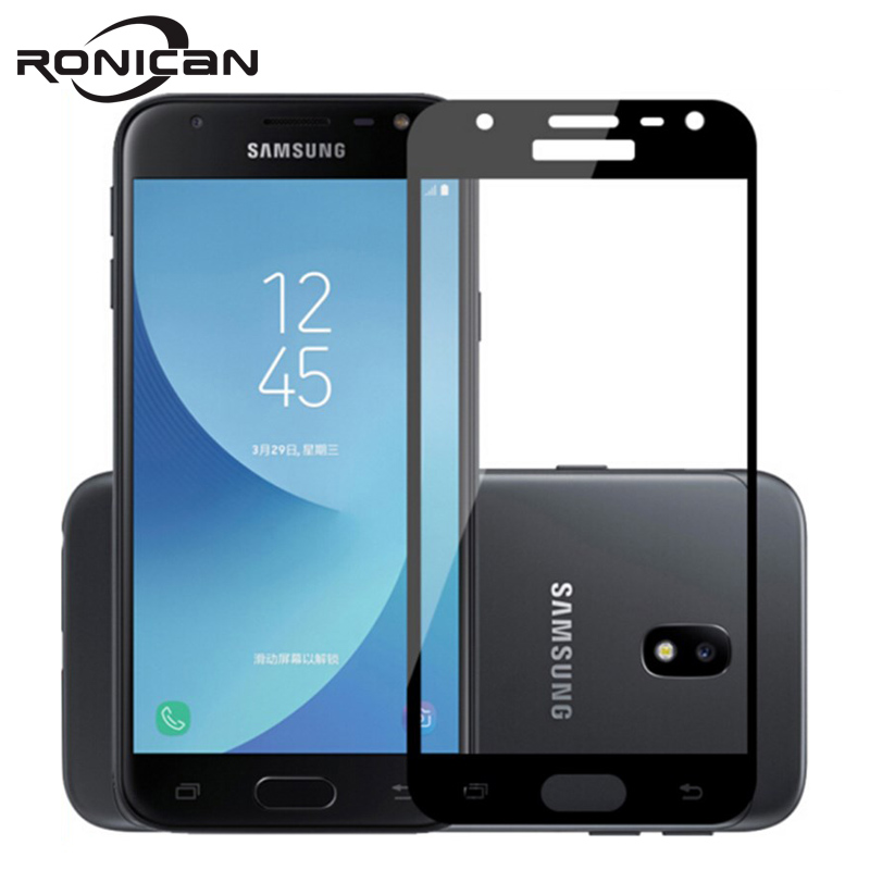 Galleria fotografica 3D Full Cover Screen Protector Tempered Glass For Samsung Galaxy A3 A5 A7 2016 J3 J5 J7 2017 Prime J530 J730 Protective Film
