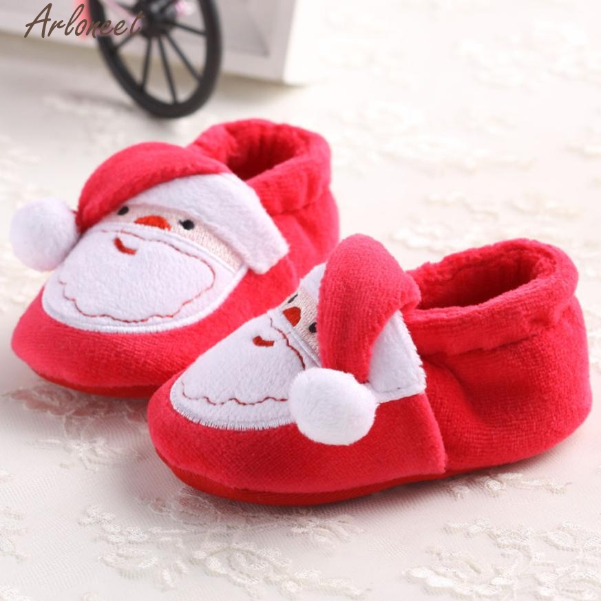 Toddler Infant Newborn Santa Claus Soft Sole Baby Girl Boy Prewalker Shoes baby moccasins bebek ayakkabi l1215