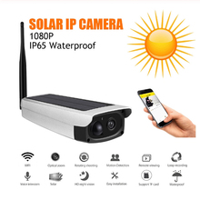 2MP Outdoor Waterproof Security Solar Camera 1080P Wifi Wireless IP Camera Phone/PC Built-in 7800mA battery with audio 2mp 1080p solar power wireless wifi ip camera with hotspot ap connection