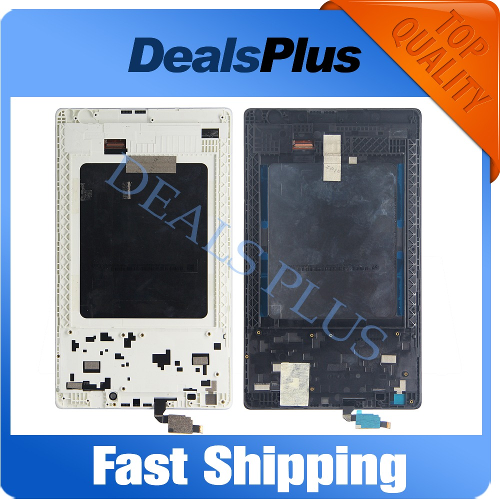 Replacement New LCD Display Touch Screen + Frame Assembly For Lenovo Tab 2 A8-50 A8-50F A8-50LC 8-inch Black White Free Shipping