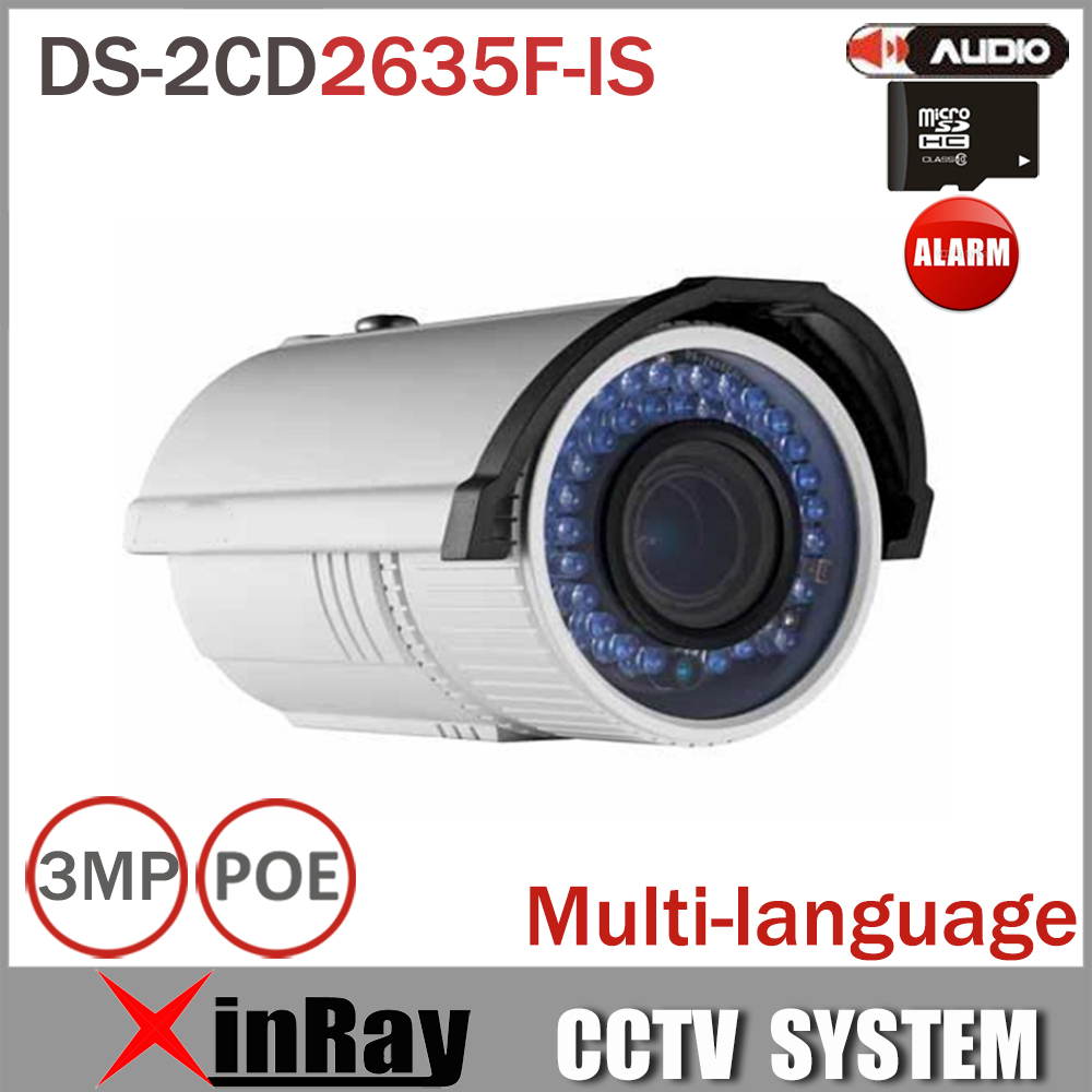 HIK IP PoE Camera DS-2CD2635F-IS 3MP Variable len 2.7-12mm  with H265 Video Compression Onvif  Audio In/Out touchstone teacher s edition 4 with audio cd