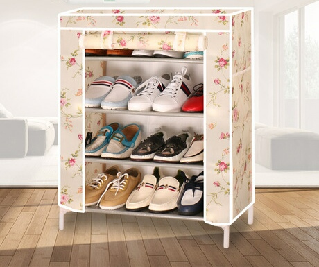 Shoe Cabinets Shoe Rack Living Room hogar Home Furniture assembly steel tube+non-woven sapateira 58*25*75 cm shoe organizer 2018Shoe Cabinets Shoe Rack Living Room hogar Home Furniture assembly steel tube+non-woven sapateira 58*25*75 cm shoe organizer 2018