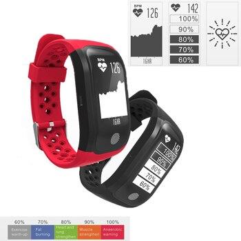 d0012a52a860 S908 GPS Inteligente banda de Frecuencia Cardíaca Monitor de Sueño  Recordatorio Sedentario Rastreador Smartwatch Podómetro Pulsera de Fitness  IP68 A Prueba ...