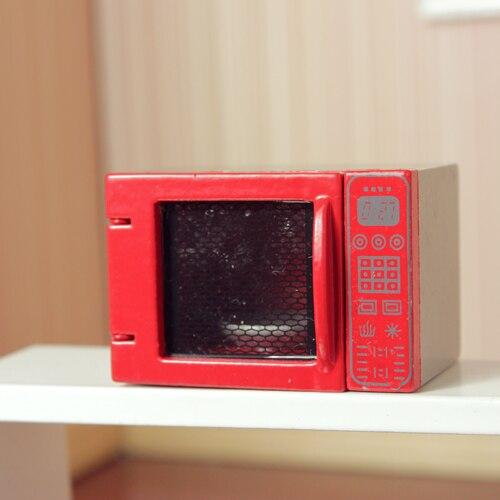 1 12 Cute Mini Dollhouse Miniature Microwave Oven