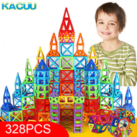 KACUU 328pcs Mini Magnetic Designer Construction Set Model & Building Toy Plastic Magnetic Blocks Educational Toys For Kids Gift