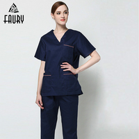 Summer Nurse Uniform Medical Scrub Clothes Doctors Hospital Set Dental Clinic Beauty Salon Work Clothes for Women High Quality
