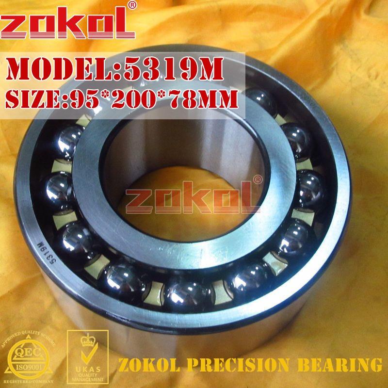 ZOKOL 5319M bearing 5319 M 3319H Axial Angular Contact Ball Bearing 95*200*78mm zokol bearing 51312 thrust ball bearing 8312 160 200 31mm