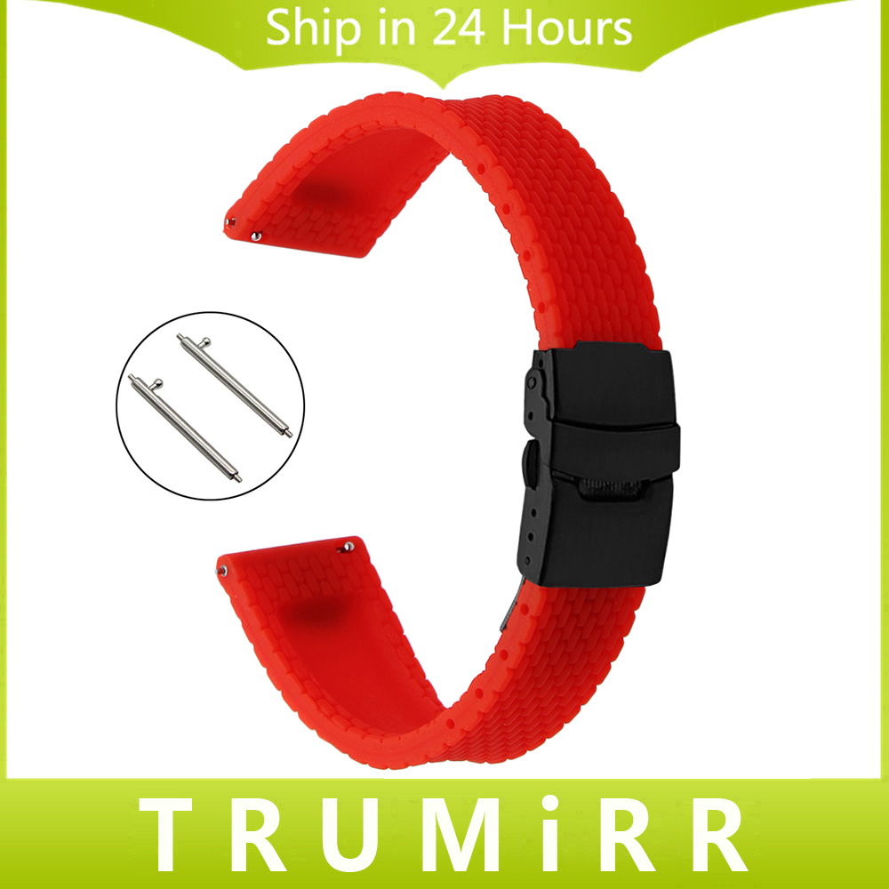 20mm 22mm Caoutchouc de Silicone Bracelet Sangle De Dégagement rapide pour Xiaomi Huami Amazfit Bip PEU RYTHME Lite Montre Bande En Acier Boucle ceinture