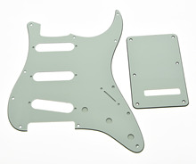 KAISH Parchment/Ivory ST SSS Pickguard Back Plate