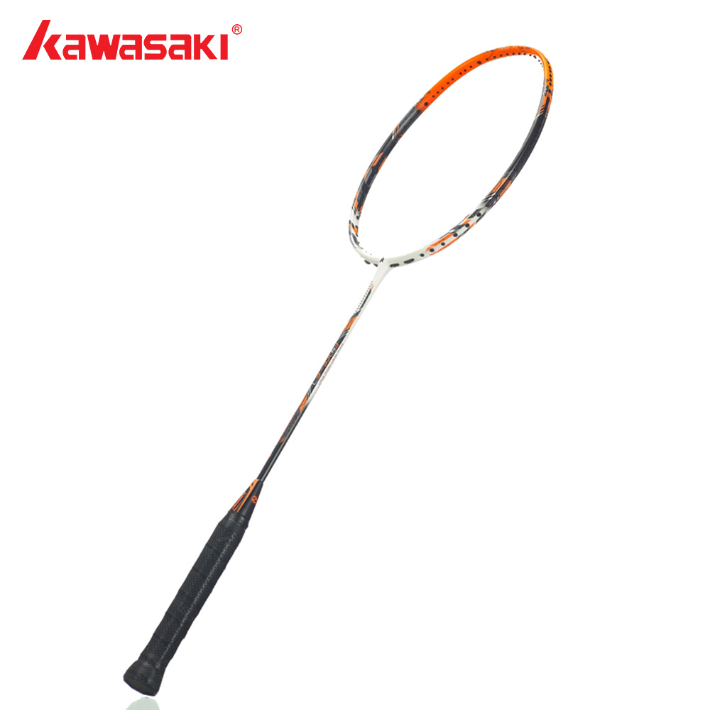 Kawasaki Brand Attack Type Badminton Rackets Carbon Box Frame Ball Control Badminton Racquet For Professional Players Force F7 kawasaki brand spider 6900 badminton rackets high tech wind break frame s5 graphite fiber professional badminton racquets