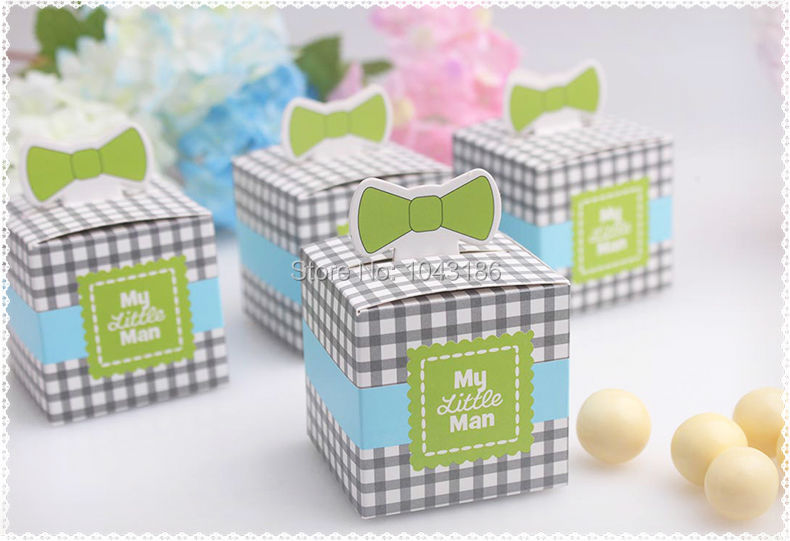 wedding candy box--New Arrival My Little Man Favor Box wedding favor box baby shower party favor chocolate box 50pcs/lot