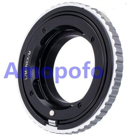 Adaptateur Amopofo LM-NEX/M pour objectif Leica M L/M vers adaptateur de montage SonyE NEX Macro mise au point hélicoïdal A5000/A5100/A6000/A7