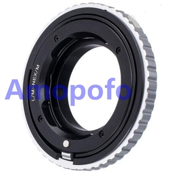 Amopofo LM-NEX/M Adapter For Leica M L/M Lens to SonyE Mount Adapter NEX Macro Focusing Helicoid A5000/A5100/A6000/A7