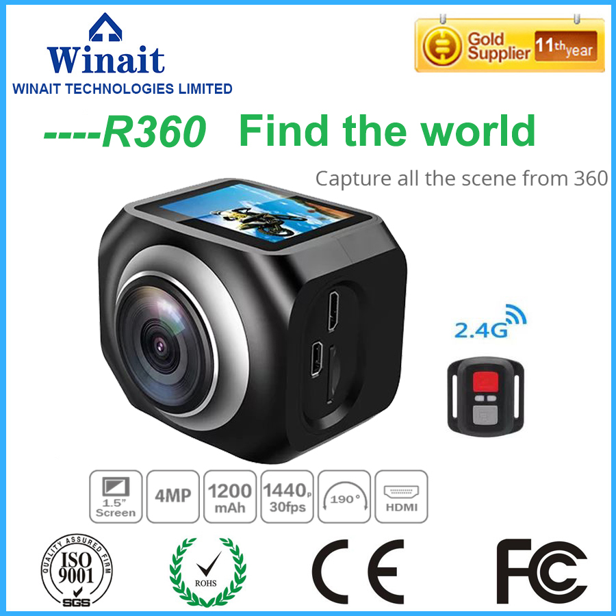 10Pcs/Lot, DHL Free Shipping New Winait Original WiFi Remote Control Video 220 Degree Ultra Wide Lens  190 DV H360 R360 VR360 free shipping high quality lamtop compatible projector lamp for ds327