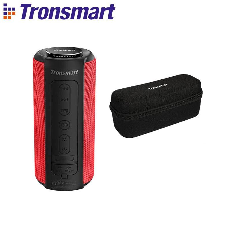Tronsmart T6 Plus Bluetooth динамик до 40 Вт беспроводной Саундбар Bluetooth 5,0 IPX6 Водонепроницаемый динамик TWS для Iphone, Xiaomi - Цвет: Red with Case