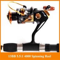 HOT SALE Free Shipping Spinning Reel Fishing Reel YA4000 13BB 5 5 1 Spinning Reel Casting