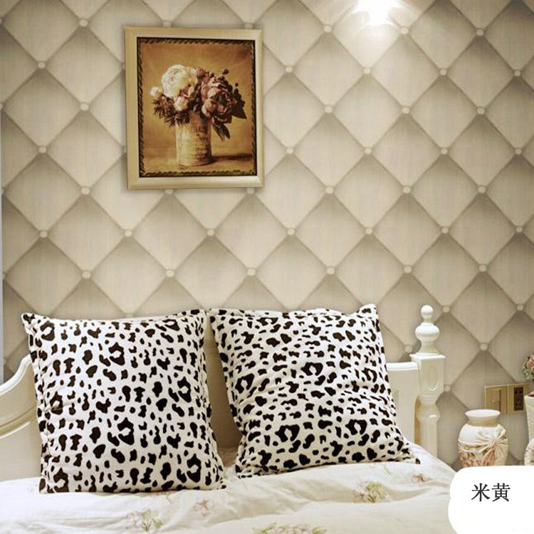 Looks Like Leather Softbag 3D Wallpaper Sofa TV Livingroom Bedroom Background Wall Paper Roll 3D ...
