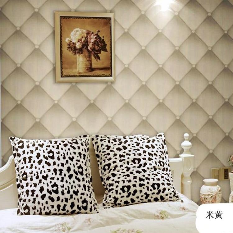 Looks Like Leather Softbag 3D Wallpaper Sofa TV Livingroom Bedroom Background Wall Paper Roll 3D ...