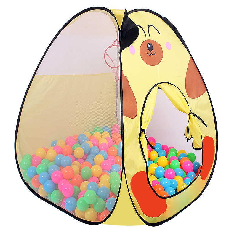 Пальчиковый рок мультфильм шаблон собака слон стиль Игрушка палатки складной открытый игровой дом дети пляжные игровые палатки мягкий забавный шарик бассейн