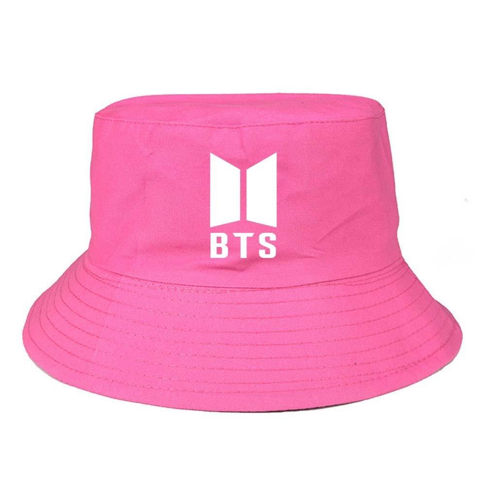 9d41892e2c9237 New Kpop BTS Bangtan Boys bucket hats Summer outdoor fishing fisherman cap  bts harajuku caps Rose red Beige black hats