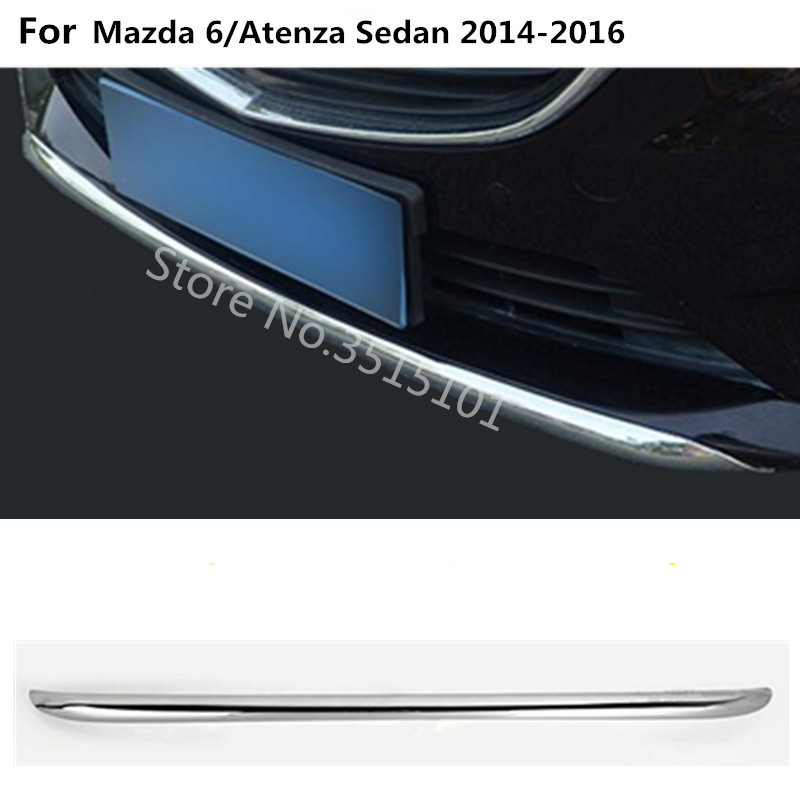 Car styling cover protection Bumper engine trim Front bottom Grid Grill Grille hood edge For Mazda 6/Atenza sedan 2014 2015 2016 car styling for mazda 6 m6 atenza 2014 2017 front bumper lower grille protector plate lip cover sticker trim decorative strip