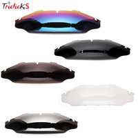 Triclicks 6 Motorcycle Wind Air Deflector Spoiler Wave Windshield Windscreen For Harley Touring Street Electra Glide