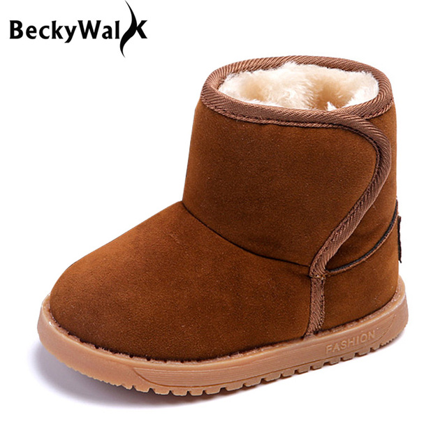 New Children Boots Winter Plush Snow Boots Kids Girls Boys Warm Shoes Cotton-padded  Non-slip Toddlers Boots Baby Shoes CSH432 dfcc2cf9599d