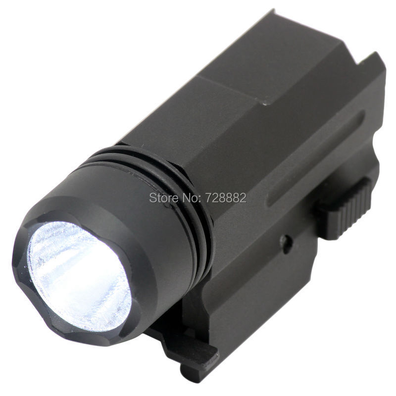 Hunting Tactical 300Lumen Cree LED Flashlight Torch Aluminum Quick Release Mount Free Shipping