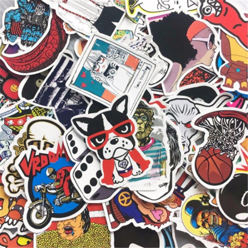 100 Pcs Flut Marke Cartoon Graffiti Mischte Serie Aufkleber Für Notebook Pc Skateboard Fahrrad Auto Moto Diy Wasserdichte Spielzeug Aufkleber Den Speichel Auffrischen Und Bereichern
